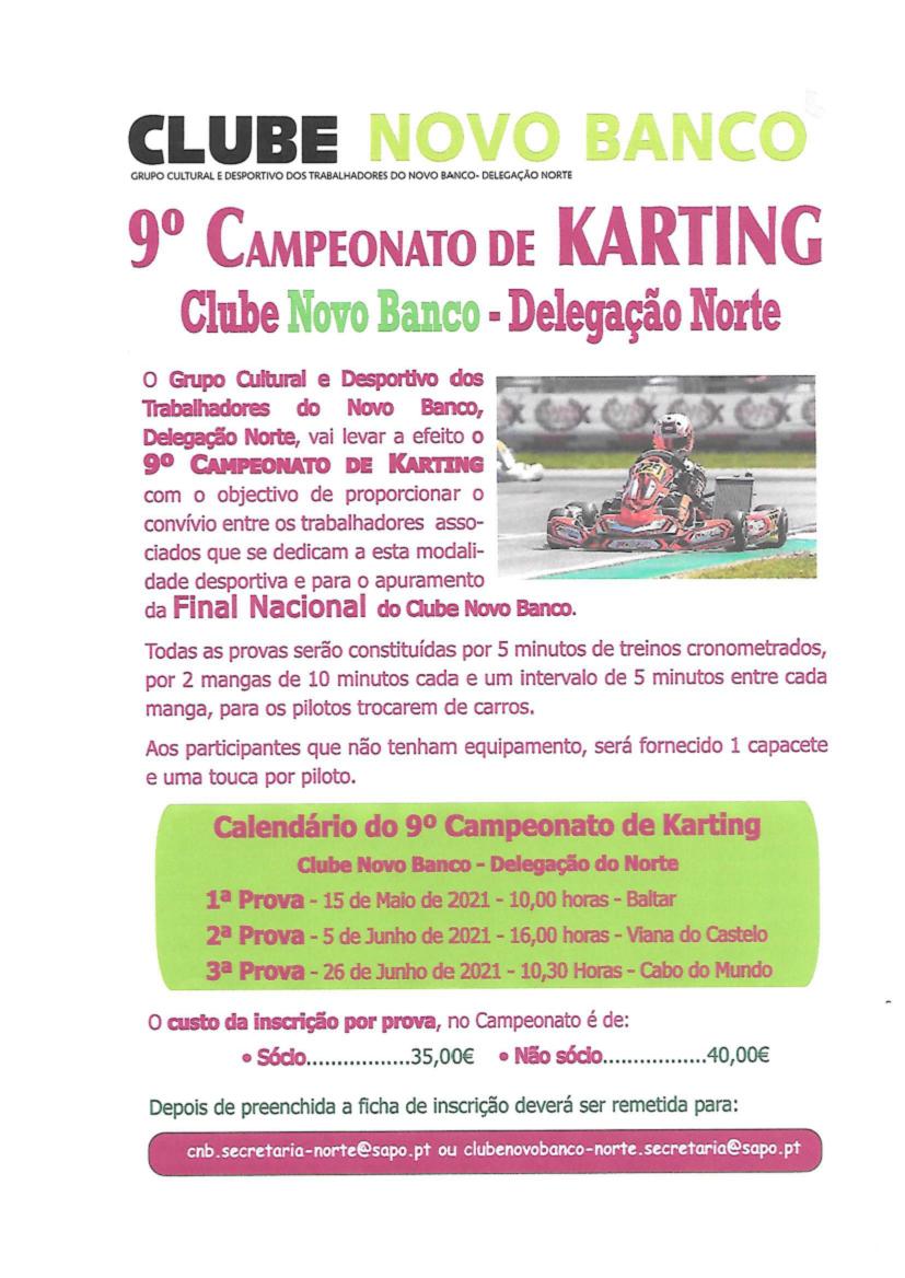9º Campeonato de Karting Delegação Porto